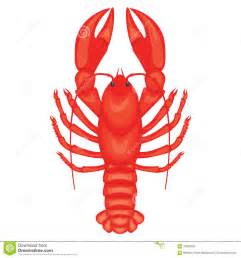 claw clip crayfish illustration isolated on white background stock