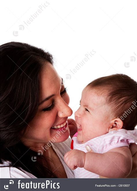 People Mother And Daughter Having Fun Laughing Stock