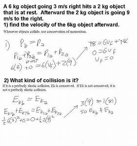 Conservation Of Momentum Problems Worksheet. Worksheets ...