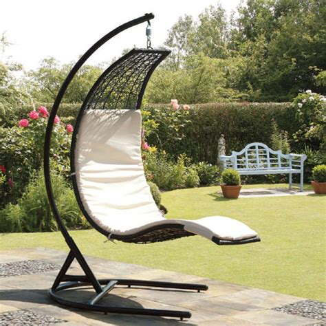 Garden Swing Seat by Suntime Curve Rattan Garden Swing Seat Garden Swing Seat
