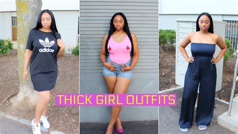THICK GIRL OUTFIT IDEAS  HOW TO HIDE BELLY FAT!!! - YouTube
