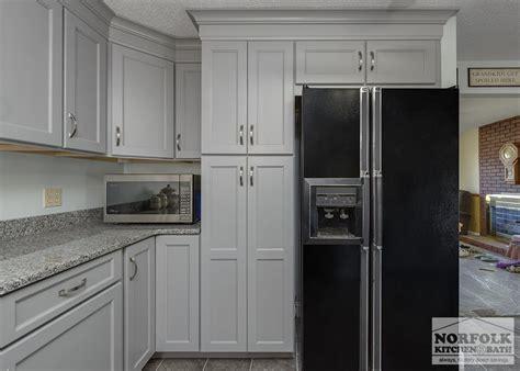 Transitional Gray Kitchen in Hudson, NH   Norfolk Kitchen