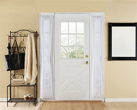 Elegance Sheer Sidelight Door Panel Curtain Curtains Door Panels Small Curtain For Bathroom Window Pottery Barn Pink And White Elements Shower U Shaped Rod Canada Decorative Bedroom Length Extra Long Tension Rods