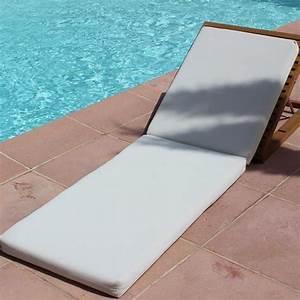 Matelas transat blanc gaia la boutique desjoyaux for Transat de piscine design