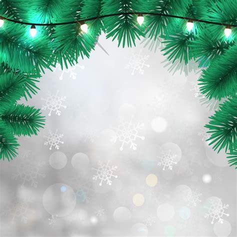 fondo blanco  luces de navidad  copos de nieve