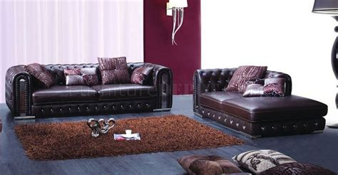 2762 Sofa In Full Genuine Leather By Esf