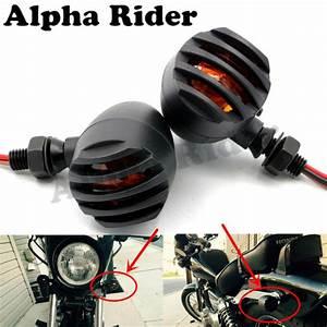 Motorcycle L  R Slotted Grill Blinker Turn Signals Flasher Lights For Kawasaki Ninja 250r Suzuki