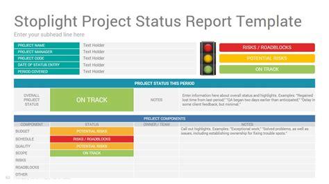 project status report google  template design