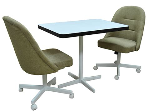 tobias caster chair with formica pedestal table dinettes