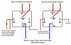 5 Pin Relay Wiring Diagram High Low