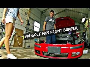 Vw Golf Rabbit Jetta Mk5 Front Bumper Cover Removal And