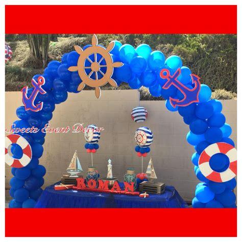 nautical theme balloon decoration  sweets event decor