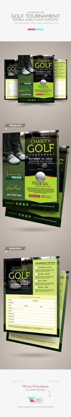 4 sided brochure template golf tournament event poster or flyer sports events