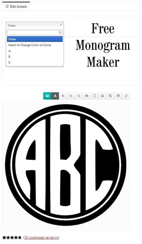 monogram maker customize   designs