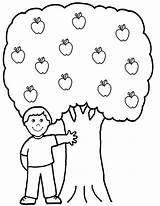 Apple Coloring Tree Boy Fruit Pages Printable Malvorlagen Kinder Fuer Apples Schule Apfelbaum Malbuecher Getcolorings Window sketch template