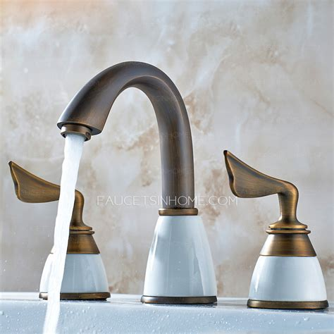 Bathroom Shower And Sink Faucet Sets by Antique Copper Three Split Set Bathroom Sink Faucet