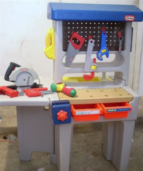 Play Tool Bench by Moorabbin Area Toy Library 117 Little Tikes Workshop