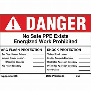 safety and security products With arc flash labels explained