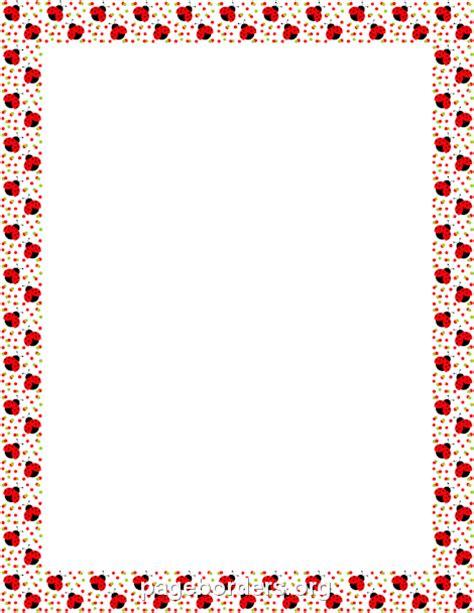 ladybug border clip art page border  vector graphics