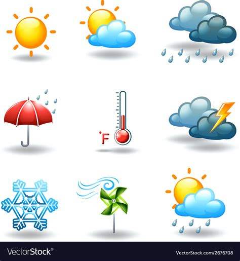 Weather Images Different Weather Conditions Royalty Free Vector Image