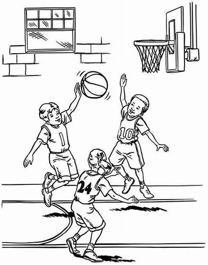 Basketball Coloring Nba Player Pages March Madness