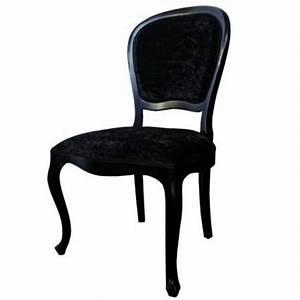 Chaise Tissu Noir : chaise antiquaire tissu noir xl meuble de salle manger ~ Teatrodelosmanantiales.com Idées de Décoration