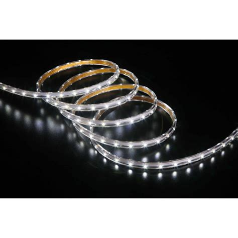 time 19 6 led cool white rope light 240 count