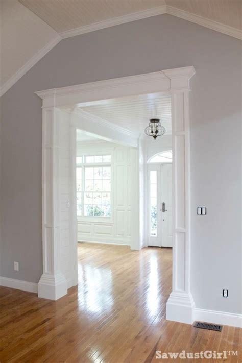 diy   build decorative columns   doorway  stock lumber mdf  trim mouldings