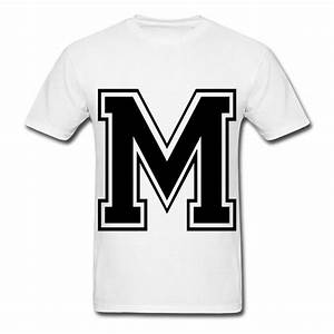 letter m t shirt spreadshirt With t shirt letter design