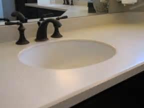 dupont corian 174 ecru this bathroom countertop is made