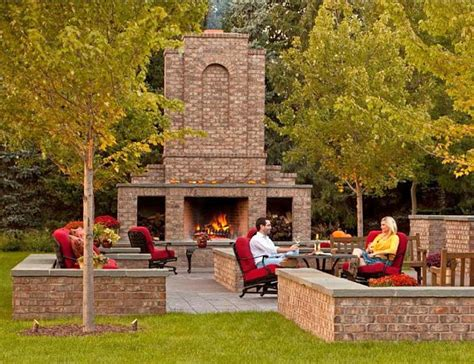 brick ideas 8 outdoor fireplaces for inspiration outdoor living ideas blog
