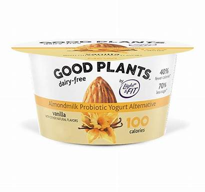 Yogurt Vanilla Dairy Plants Almondmilk Alternative Sugar