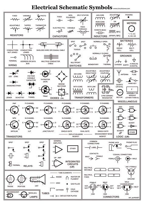 Electrical Schematic Symbols Wire Diagram