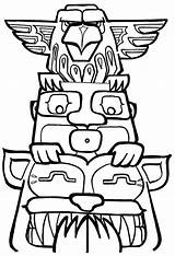 Totem Pole Coloring Poles Funny Drawing Drawn Sheets Getdrawings Clipartmag Popular sketch template