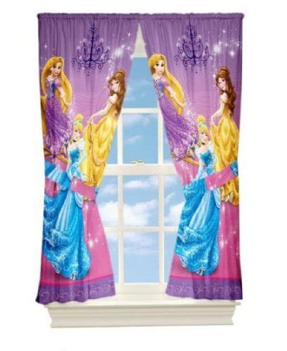 jhagal disney princesse rideaux 104x160cm royal
