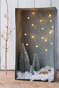 Schneelandschaft Selber Basteln : most stunning christmas shadow box ideas christmas shadow boxes christmas diy christmas ~ A.2002-acura-tl-radio.info Haus und Dekorationen