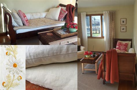 Turn Bed Into Sofa by Slipcover Makeover Turns Sleigh Bed Into A Sofa The