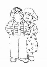 Stamps Digi Digital Grammy Coloring Pages Stamp Grandparents Couple Dearie Dolls Kisses Anniversary Cartoon Yurls Printable Cards Freedeariedollsdigistamps Kleurplaten Drawing sketch template