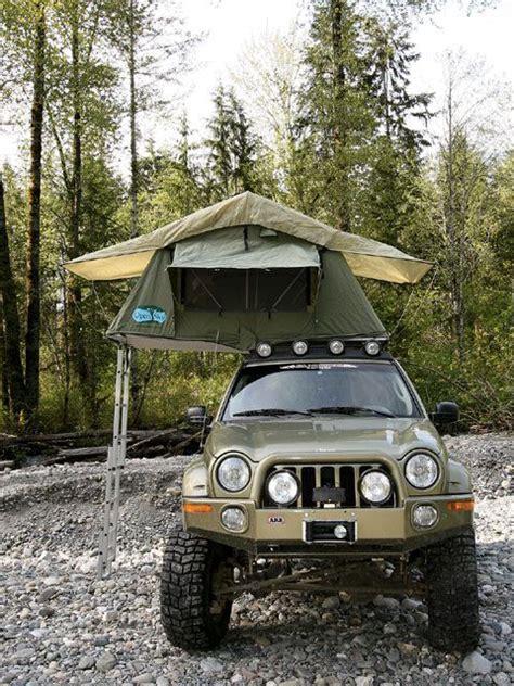 jeep liberty camping great setup