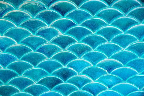 Blue Circle Water Wave Tile Texture Background Stock Photo