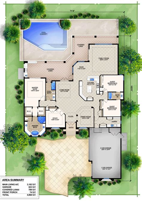 house plans with indoor pools house plan 78105 at familyhomeplans com