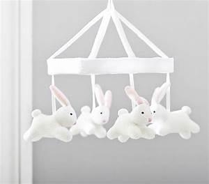 Bunny Knit Crib Mobile Pottery Barn Kids