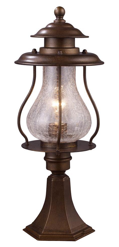 elk lighting 62007 1 wikshire outdoor post mount fixture