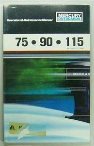 Original Vintage Mercury Outboard Motor Owners Manual 75