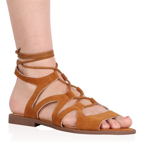 synthetic grass store hours womens zip cut out and lace up gladiator flat sandals in