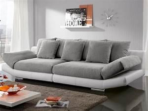 Canape Gris Et Blanc : photos canap gris et blanc ~ Melissatoandfro.com Idées de Décoration