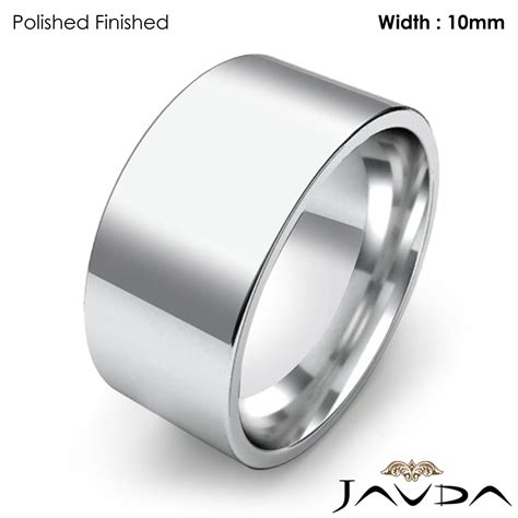 comfort flat pipe cut ring mens wedding band mm
