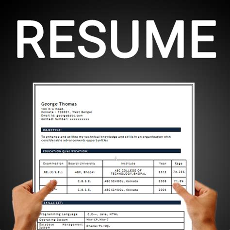 resume builder  cv maker templates formats