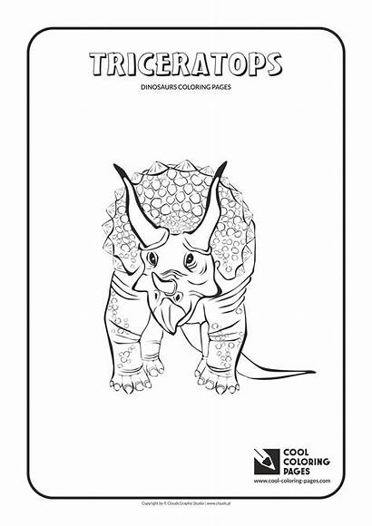 Coloring Pages Cool Dinosaurs Triceratops Animals Educational