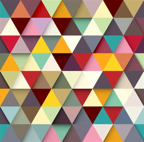 colored triangle vector background vector background